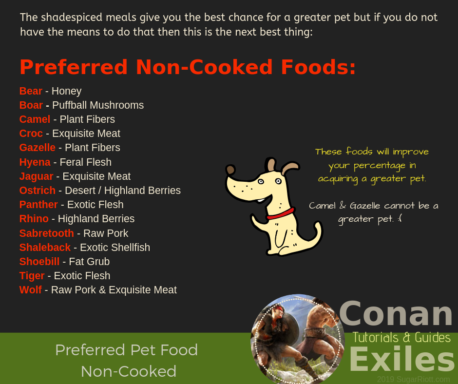 Conan Exiles – Preferred Pet Food |