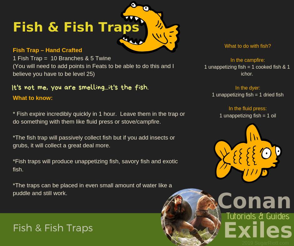 Conan Exiles: Fish & Fish Traps |